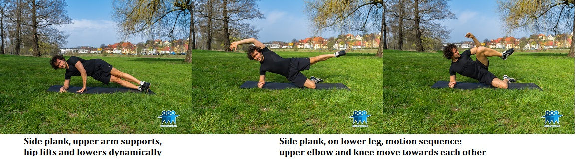 Side plank dynamic versions