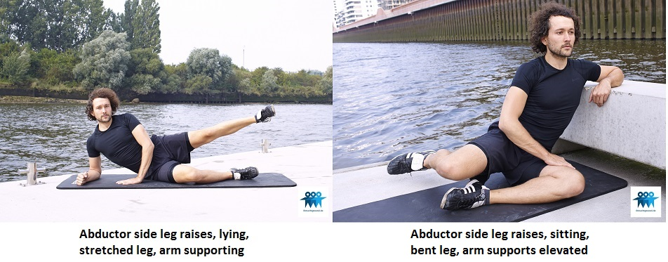 Abductor side leg raises lying and sitting
