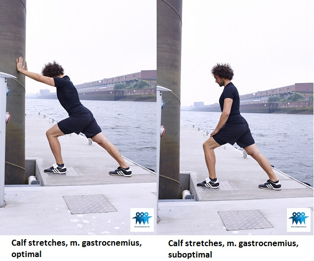 Calf stretches gastrocnemius