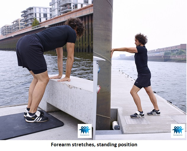 Forearm stretches variations