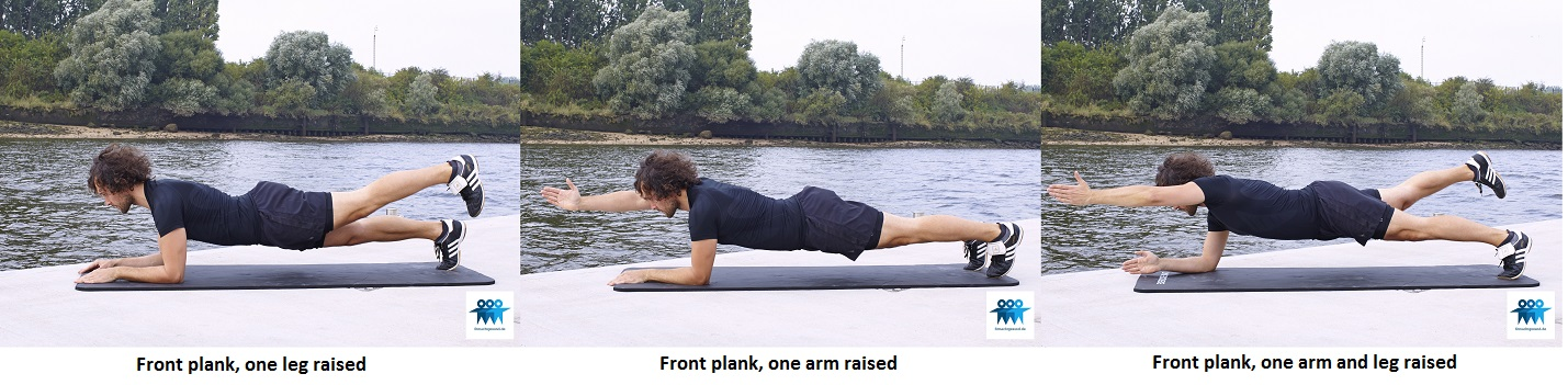 Front plank variations