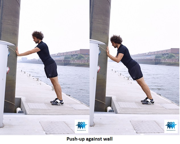 Push-up against wall