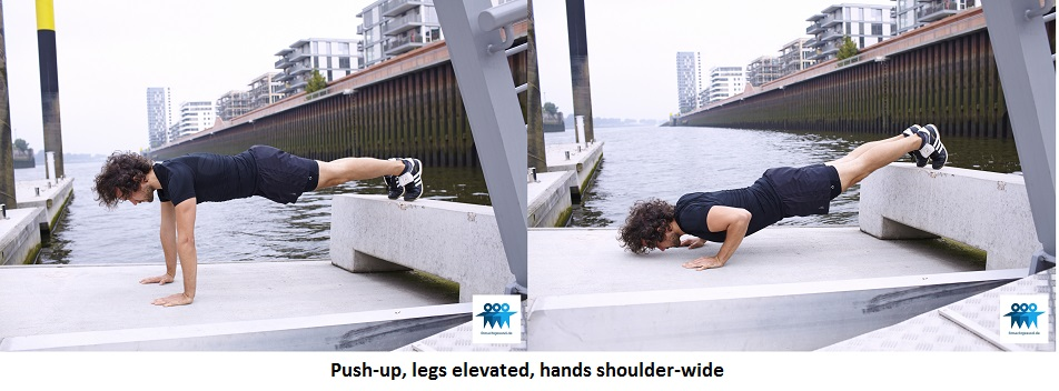 Push-up, legs elevated