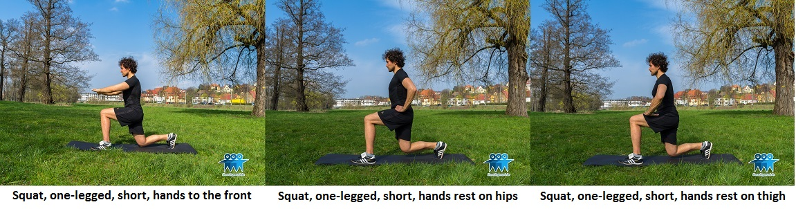 One-legged squat short
