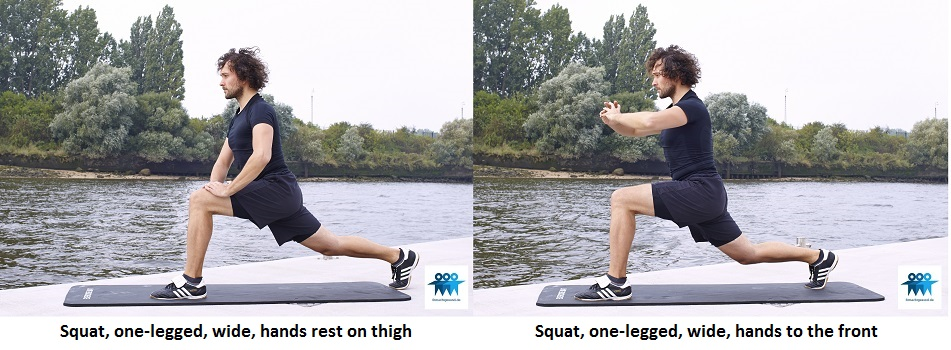 One-legged squat wide