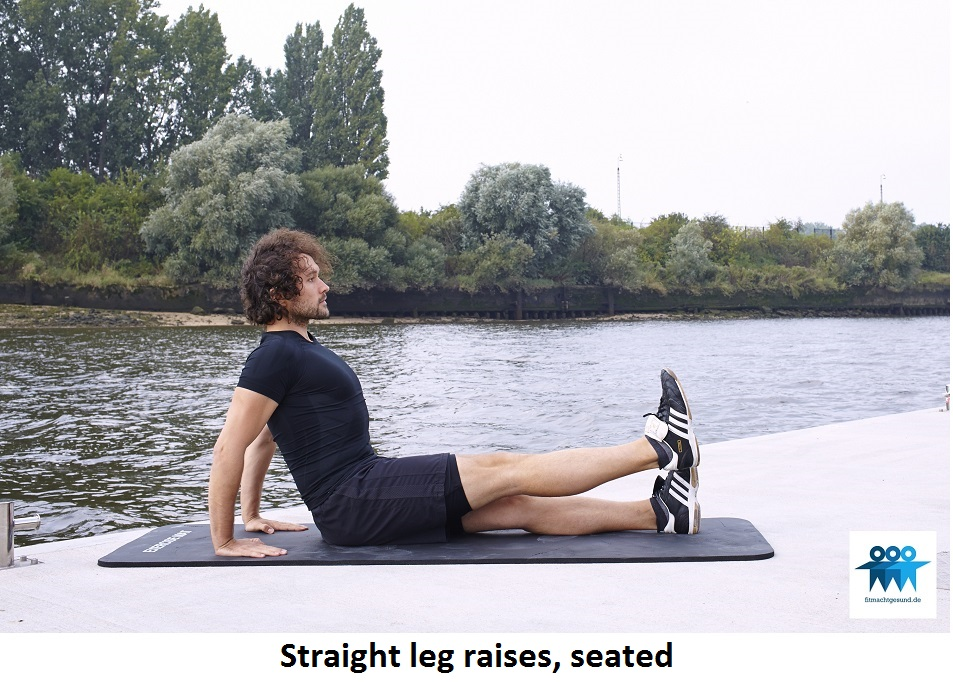 Straight leg raises seated
