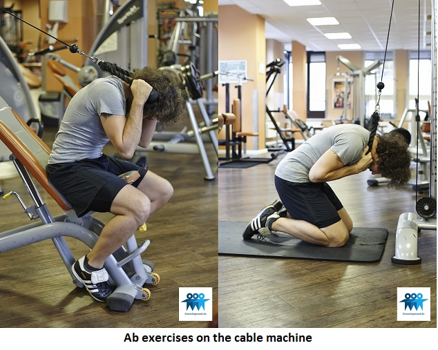 Ab exercises on the cable machine