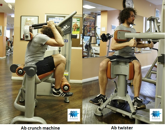 Ab exercises on the machine