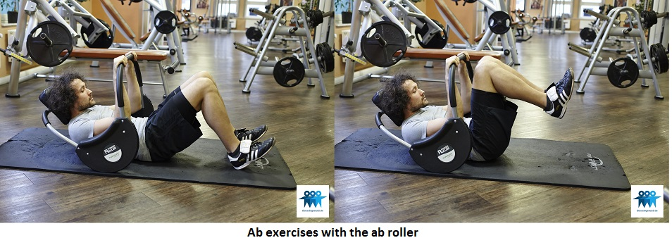 Ab exercises with the ab roller