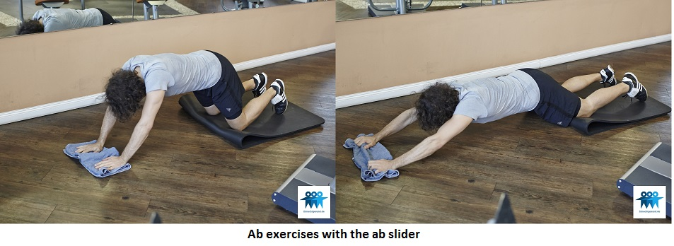 Ab exercises with the ab slider