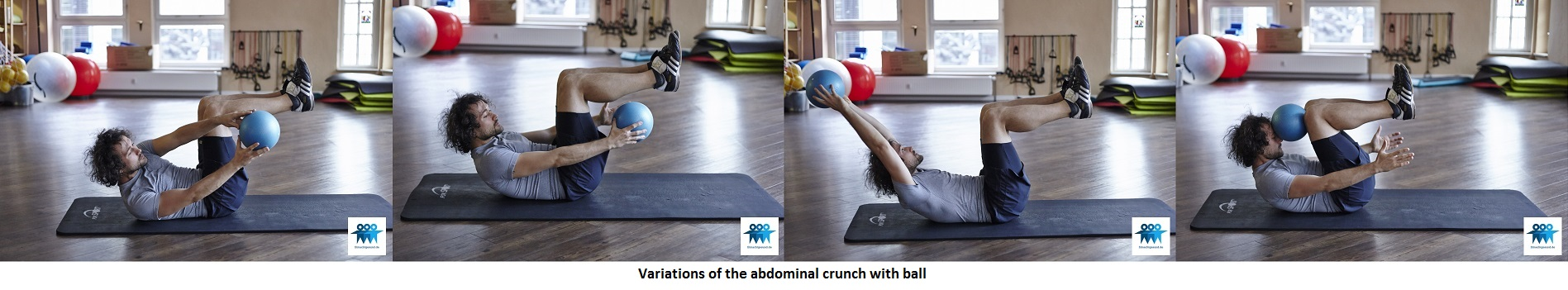 Ab crunch with ball