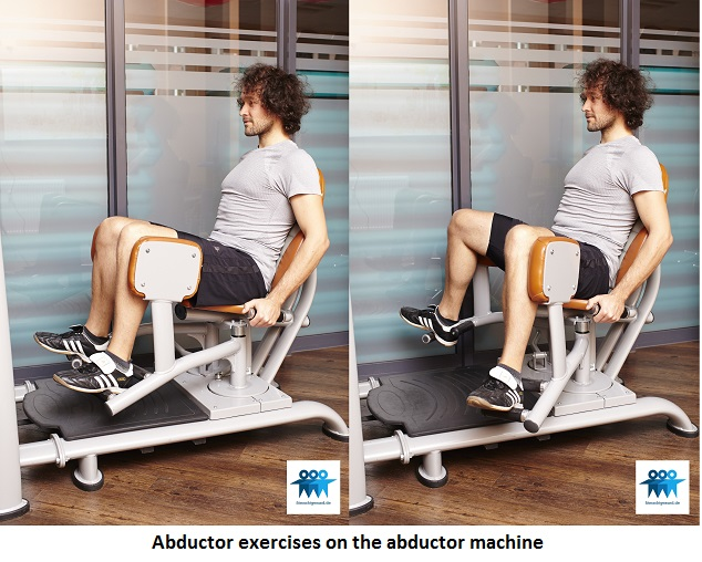Abductor exercises on the abductor machine