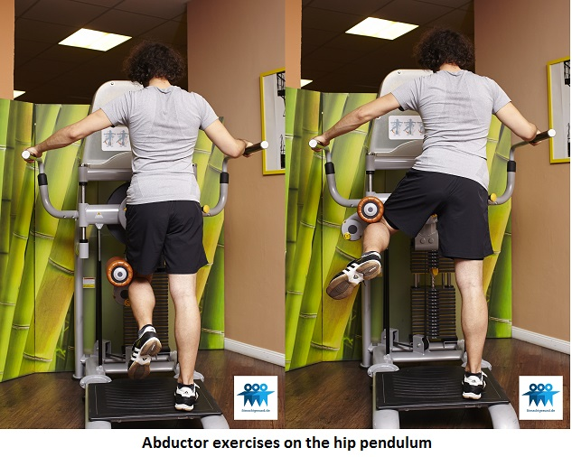 Abductor exercises on the hip pendulum