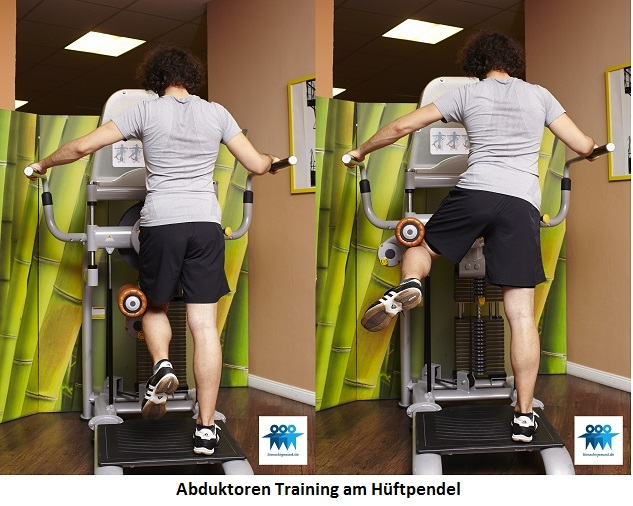 Abduktoren Training am Hüftpendel