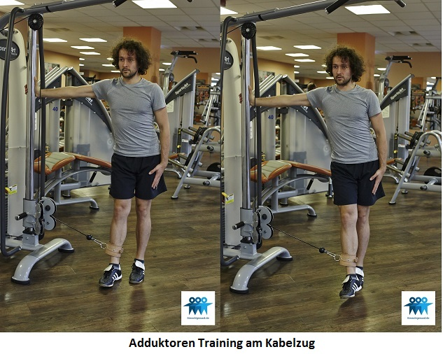 Adduktoren Training am Kabelzug