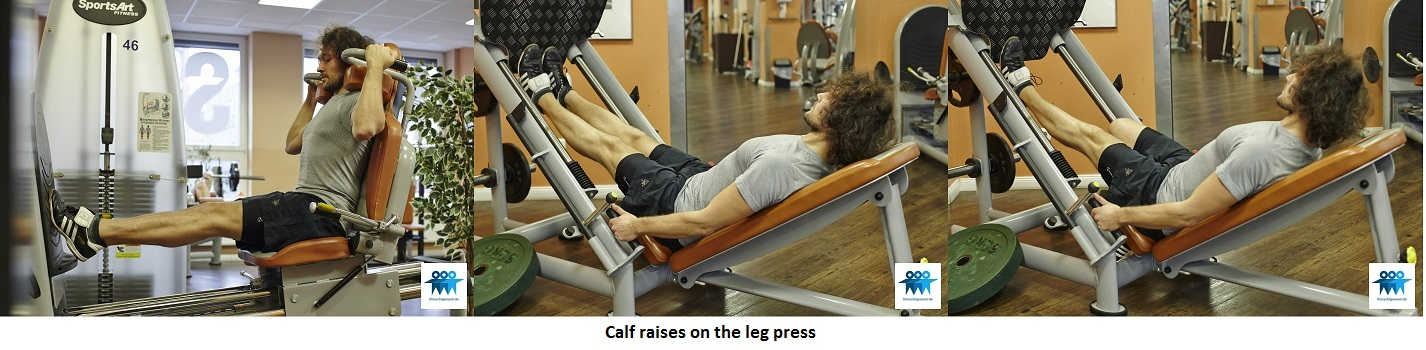 Calf raises on the leg press