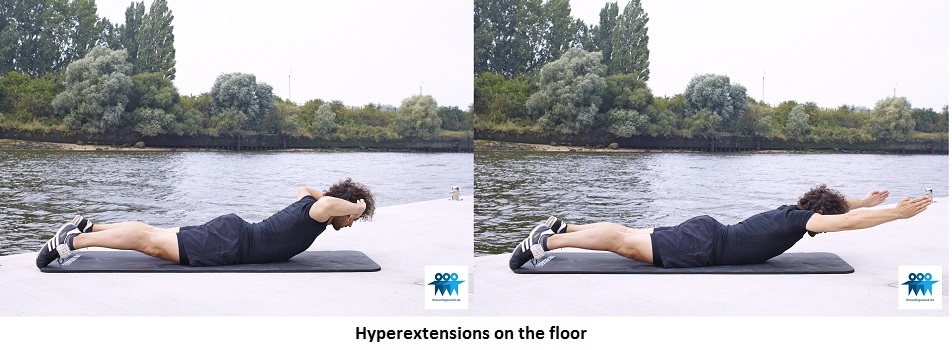 Hyperextensions on the floor