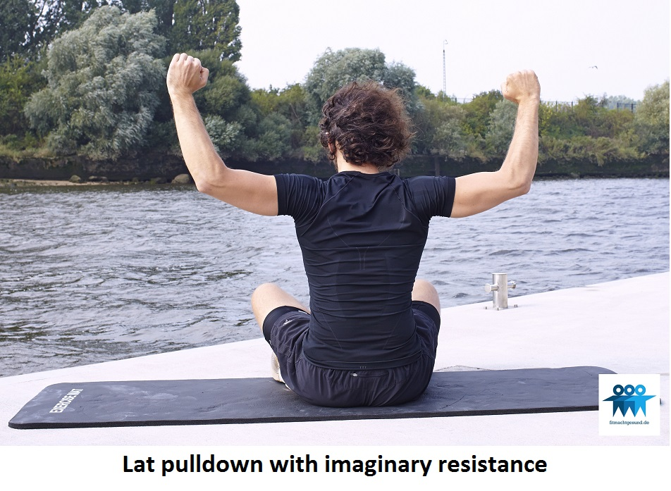 Lat pulldown with imaginary resistance