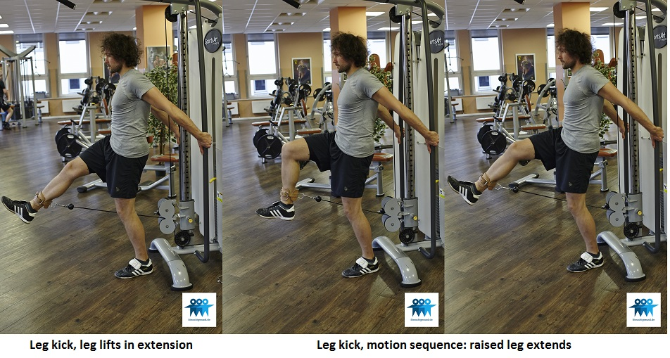 Leg extension on the cable machine