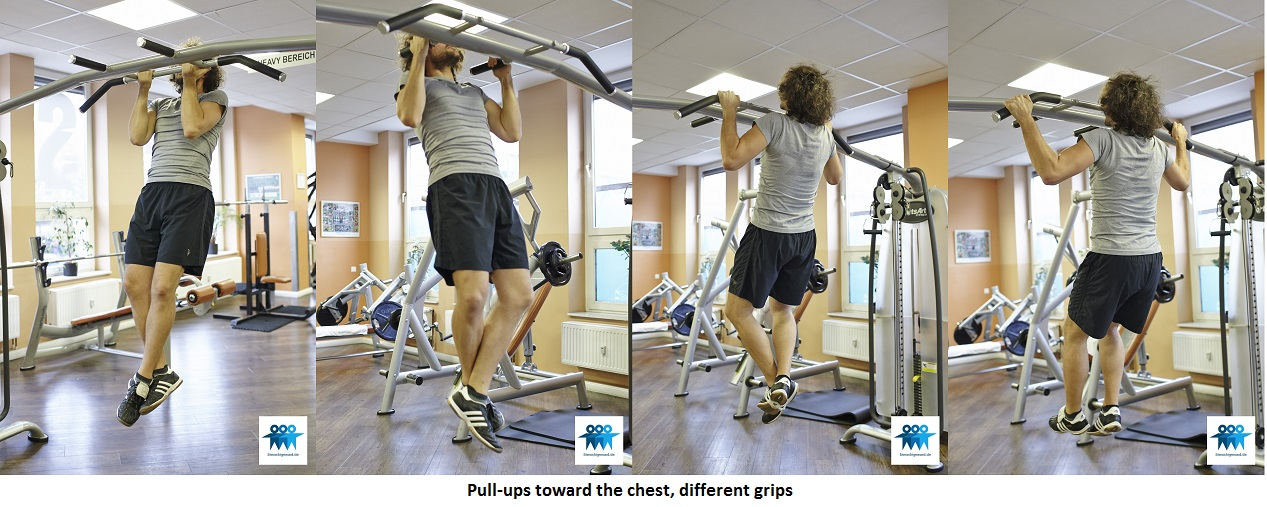 Pull-ups toward the chest