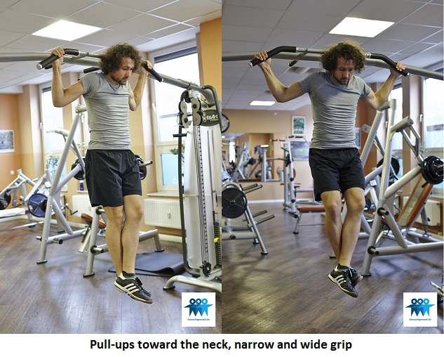 Pull-ups toward the neck