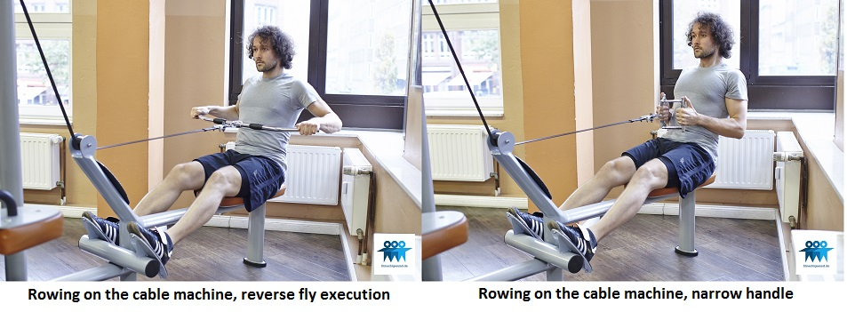 Rowing on the cable machine