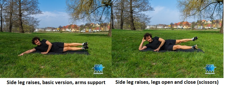Side leg raises variations