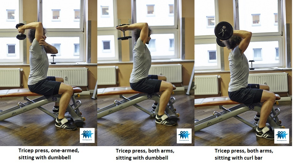 Tricep press sitting