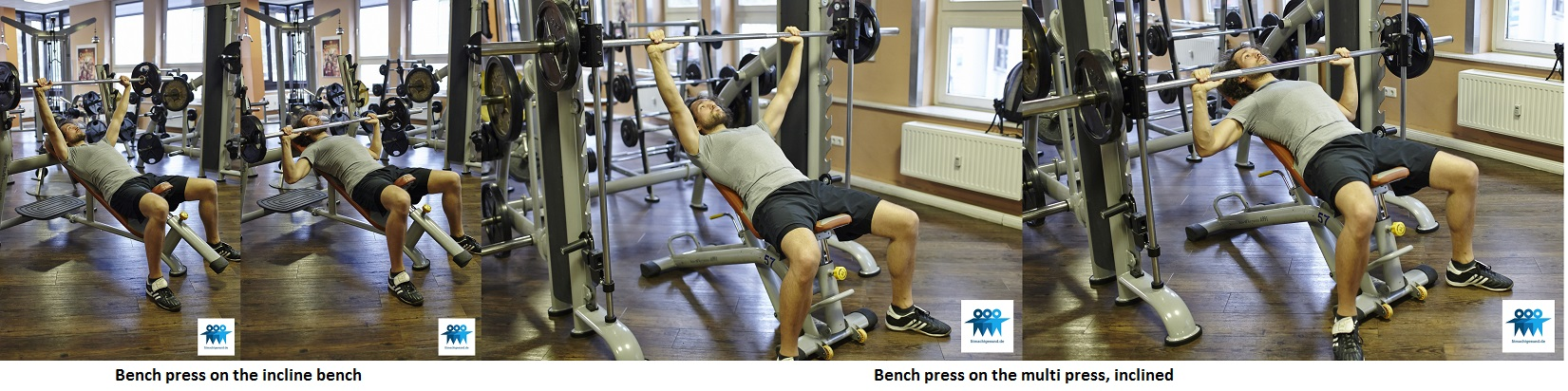 Bench press inclined