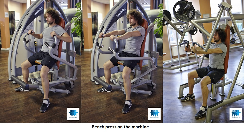 Bench press on the machine